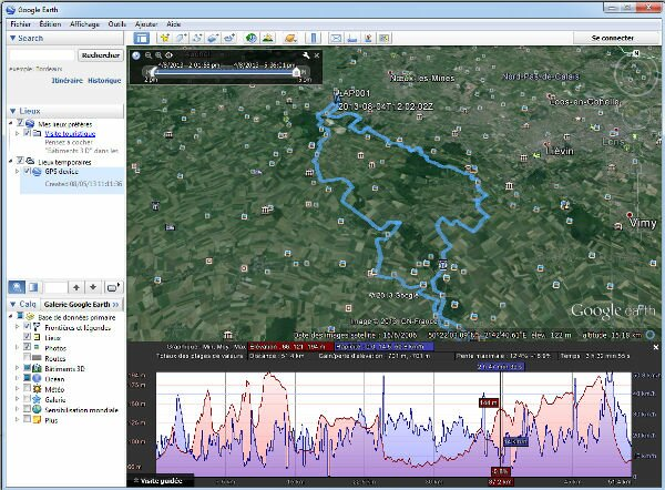 Visualiser un parcours GPS avec Google Earth